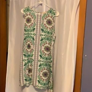 Tory Burch Garden Party Linen  Shift Dress XL EUC